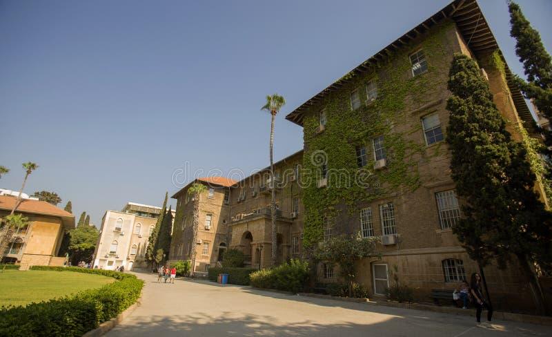 A universidade americana de Beirute é uma universidade independente em Beirute Foi fundado dentro fotos de stock royalty free