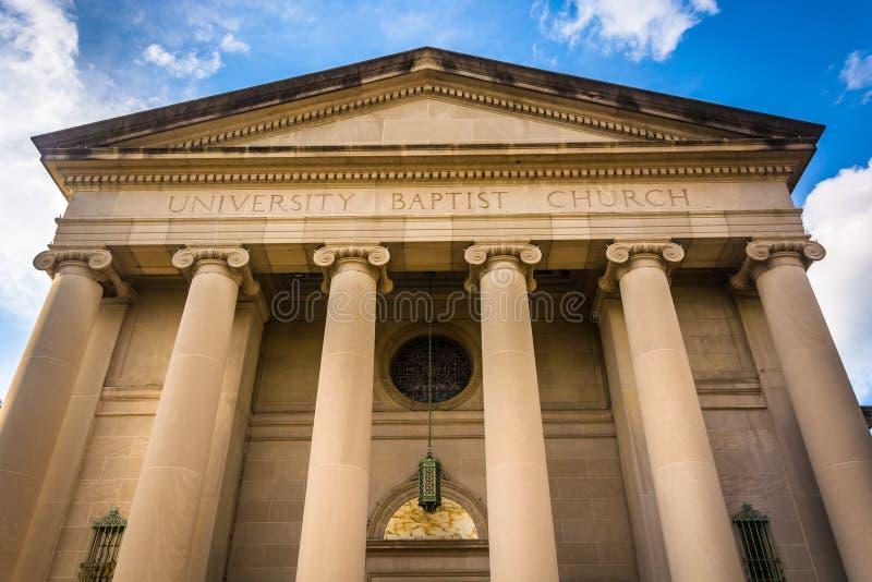 Universidade Baptist Church, em Baltimore, Maryland foto de stock royalty free