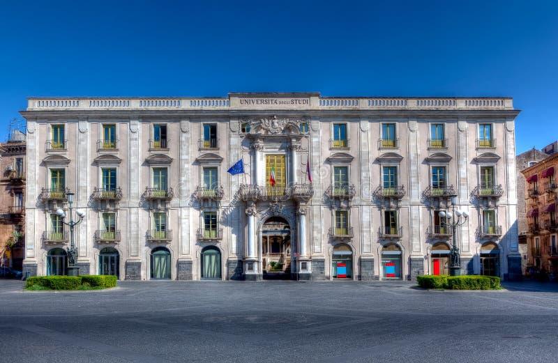 Universidade, Catania, Sicília, Itália foto de stock