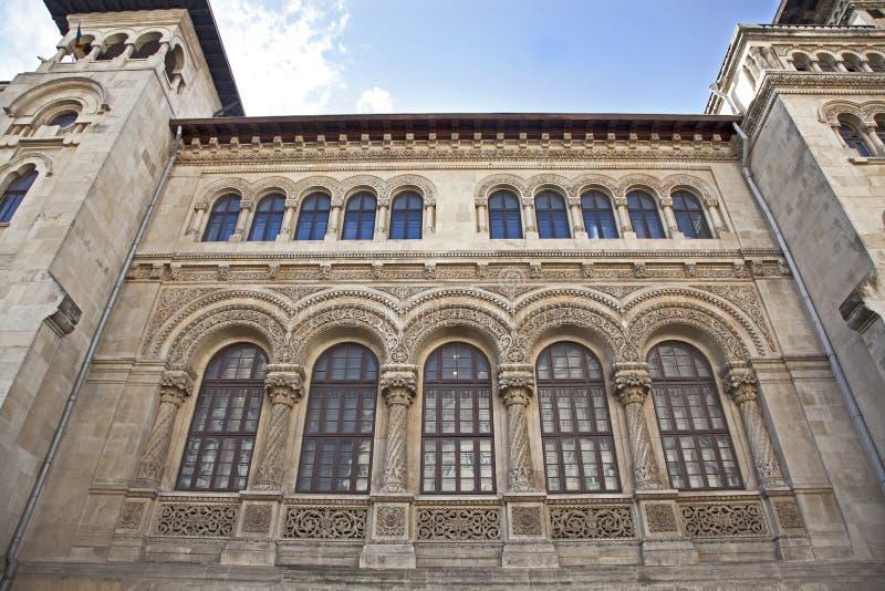 Universidade da arquitetura de Mincu do íon fotografia de stock