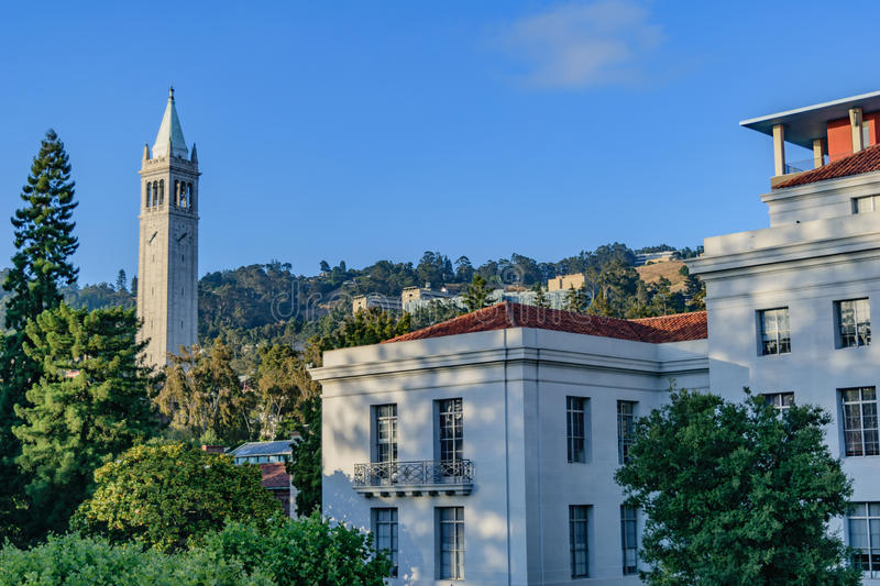 Universidade da California Berkeley Sather Tower foto de stock