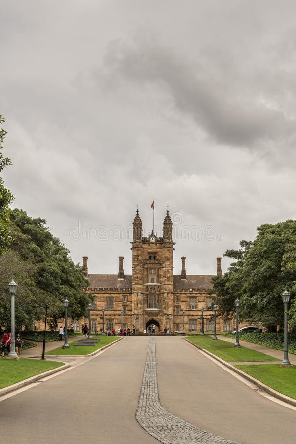 Universidade da torre de Sydney Clock, Austrália fotografia de stock royalty free