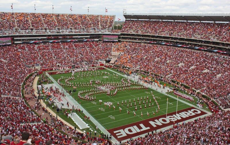 Universidade de Alabama milhão faixas do dólar pregame fotografia de stock