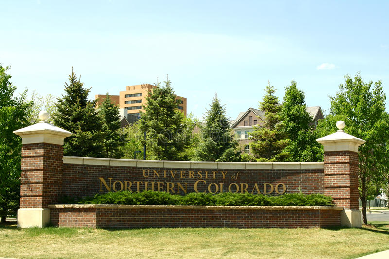 Universidade de Colorado do norte imagens de stock royalty free