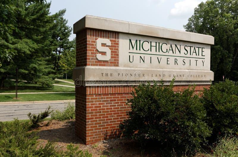 Universidade de estado do Michigan fotos de stock
