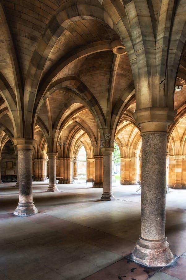 A universidade de Glasgow Cloisters fotografia de stock royalty free