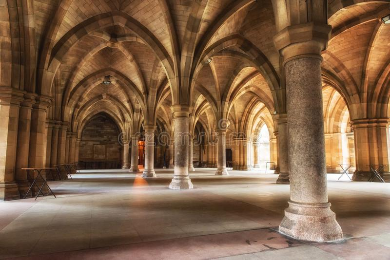 A universidade de Glasgow Cloisters fotos de stock