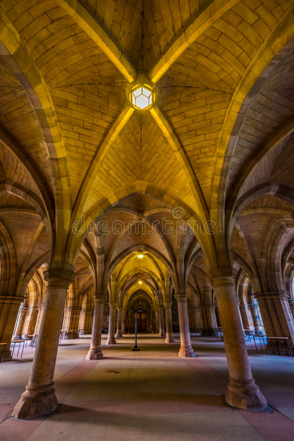 A universidade de Glasgow Cloisters, Glasgow fotos de stock