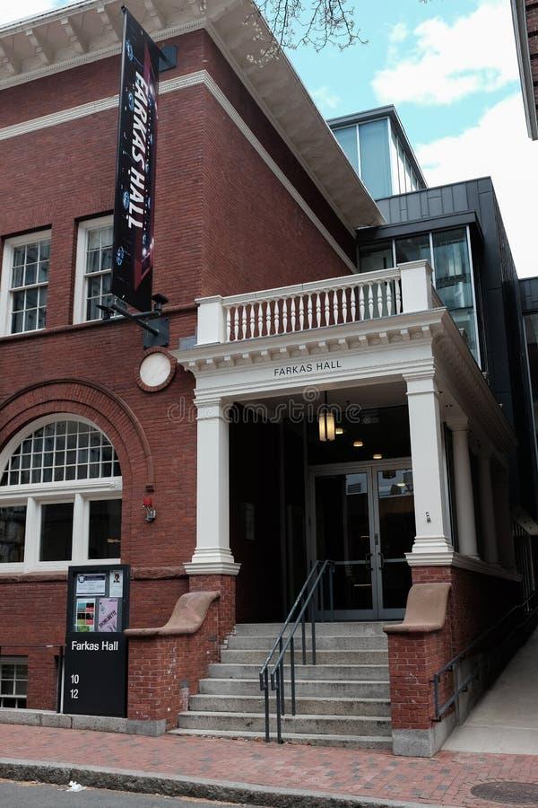 Universidade de Harvard Farkas Salão imagem de stock