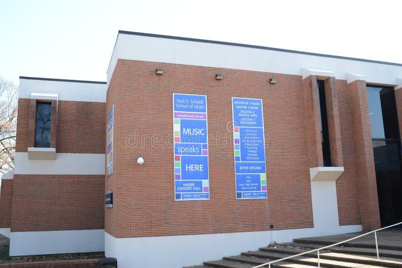 Universidade de Memphis Music Center, Memphis, TN imagem de stock royalty free