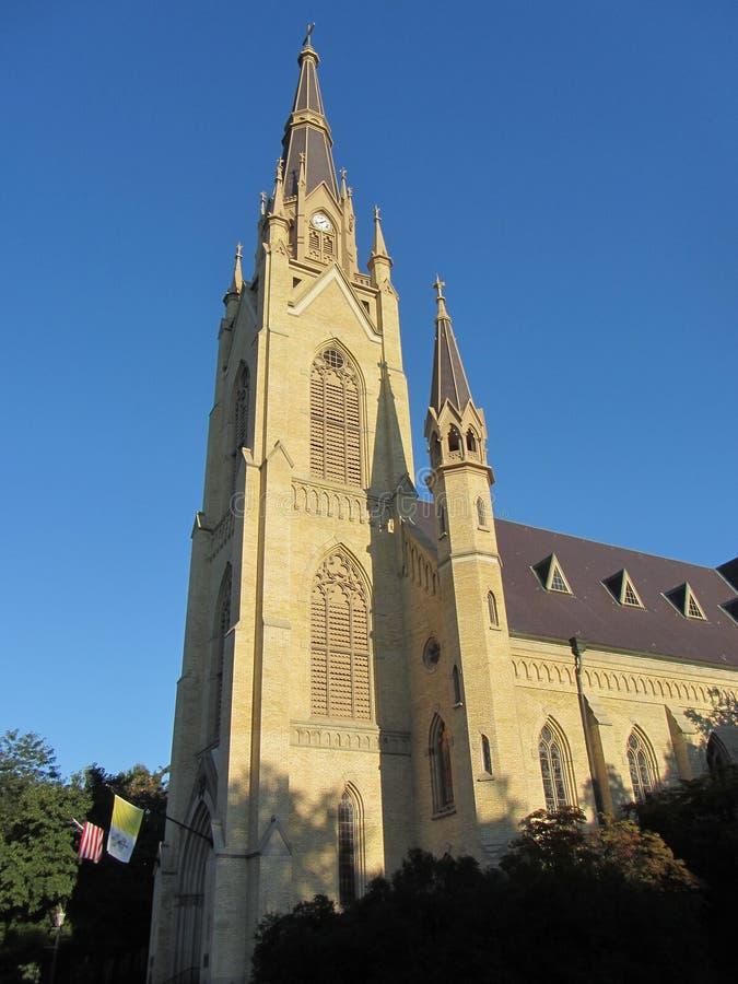 Universidade de Notre Dame - basílica do coração sagrado foto de stock