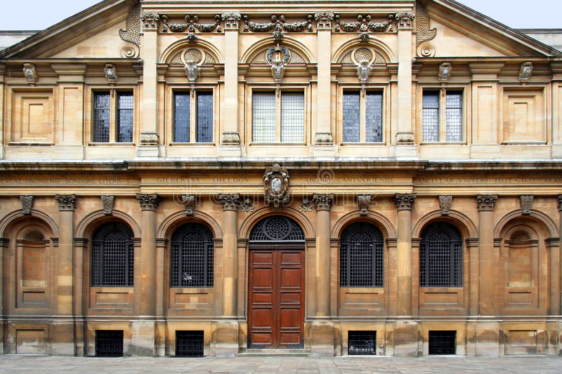 Universidade de Oxford, teatro de Sheldonian foto de stock