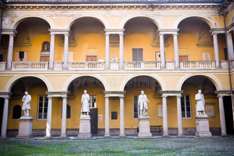 Universidade de Pavia do pátio imagem de stock