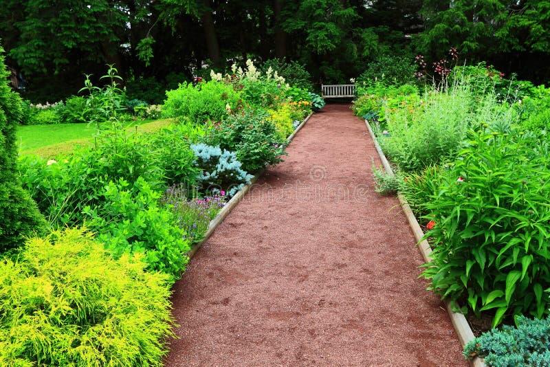 Universidade de Princeton do jardim da perspectiva imagem de stock