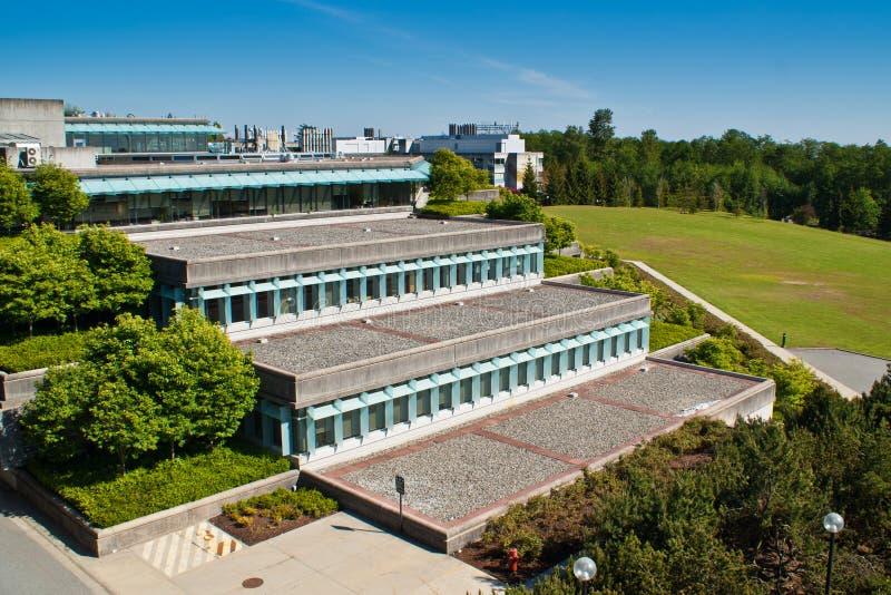 Universidade de Simon Fraser em Vancôver, BC, Canadá fotografia de stock