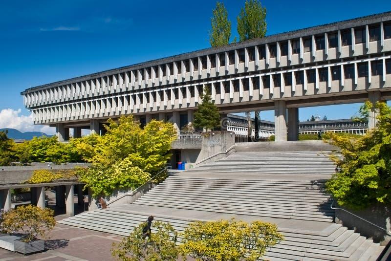 Universidade de Simon Fraser em Vancôver, BC, Canadá imagem de stock