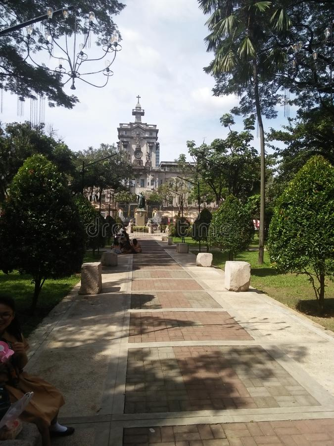Universidade de Sto Tomas Main Building foto de stock