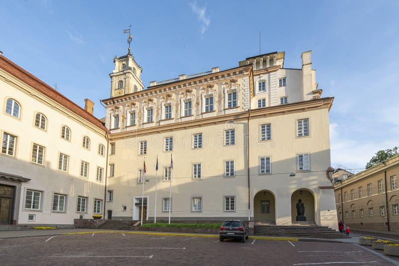 A universidade de Vilnius foto de stock