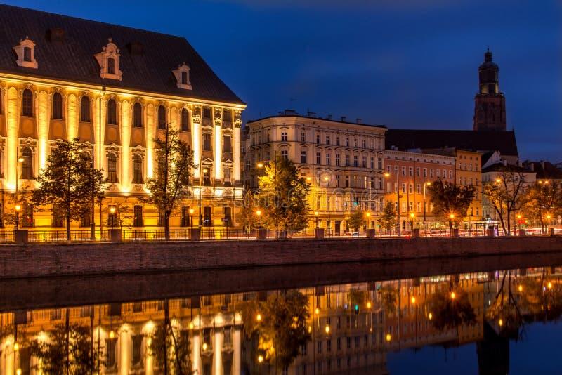 Universidade de Wroclaw fotografia de stock