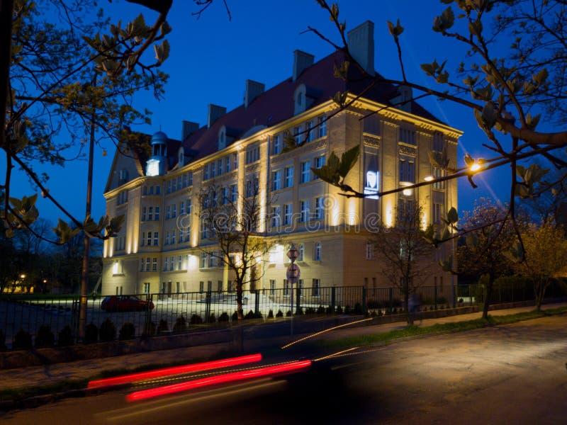 Universidade de Wroclaw da ciência e da tecnologia em Legnica imagens de stock royalty free