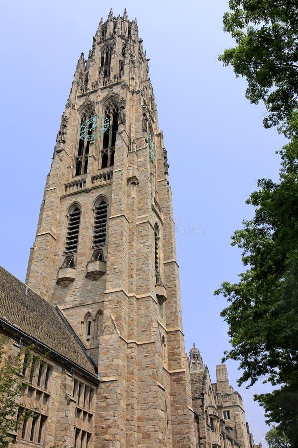 Universidade de Yale, torre de Harkness fotos de stock