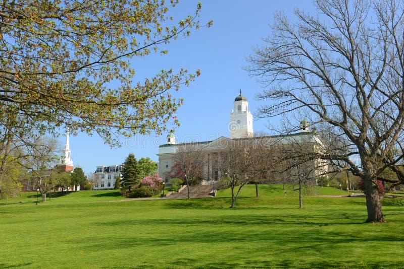 Universidade do Acadia, Wolfville, Nova Scotia, Canadá imagem de stock
