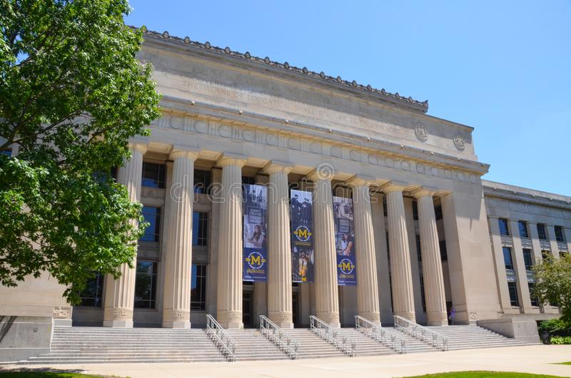 Universidade do Michigan Angell Hall fotos de stock royalty free