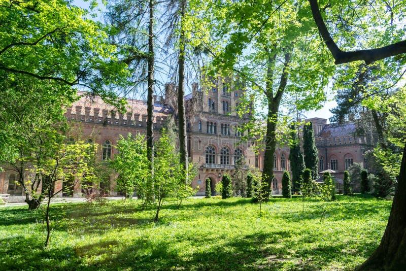 Universidade do nacional de Yurii Fedkovych Chernivtsi imagem de stock royalty free