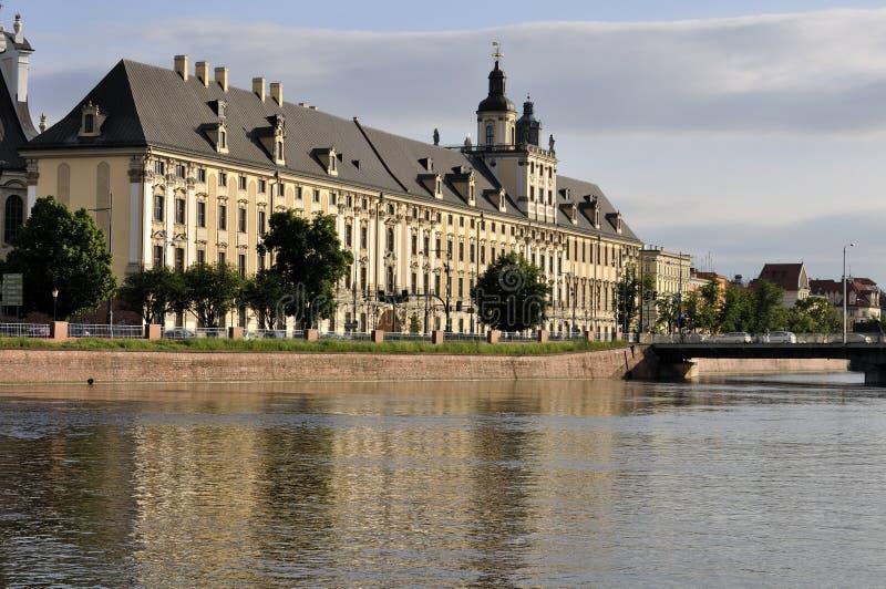 Universidade do Wroclaw imagens de stock royalty free