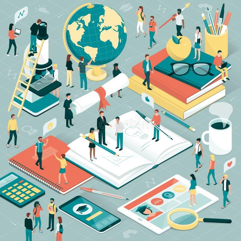 Universidade e pesquisa ilustração stock