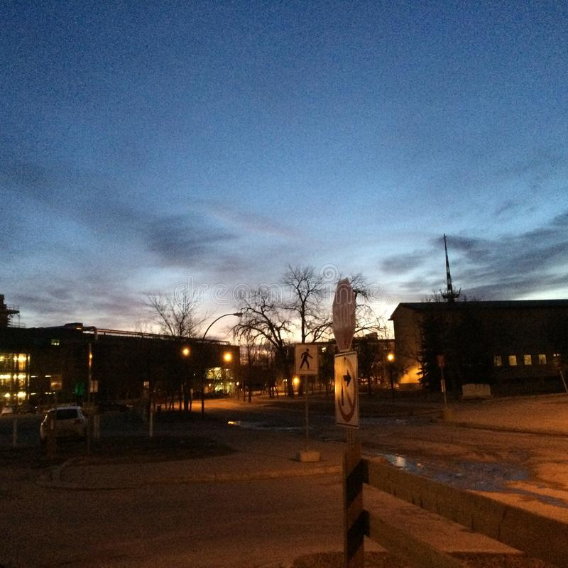 Universidade em cedo foto de stock royalty free