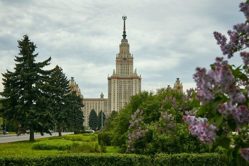 Universidade estadual de Moscou, Moscou fotografia de stock