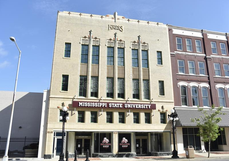 Universidade estadual de MSU Mississippi em Mississippi meridiano imagens de stock royalty free