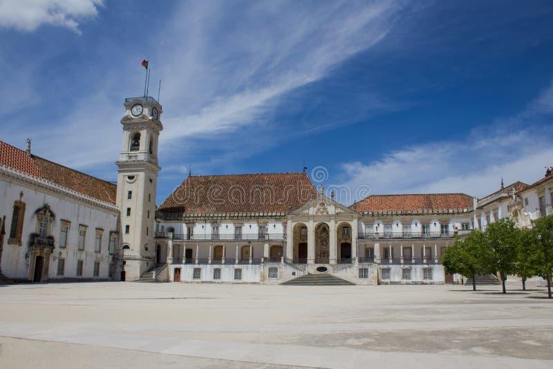 Universidade famosa de Coimbra, Portugal fotos de stock royalty free