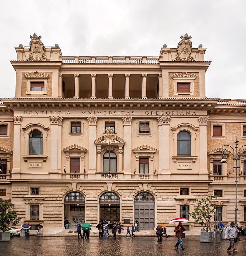 Universidade gregoriana pontifical em Roma, Italia foto de stock
