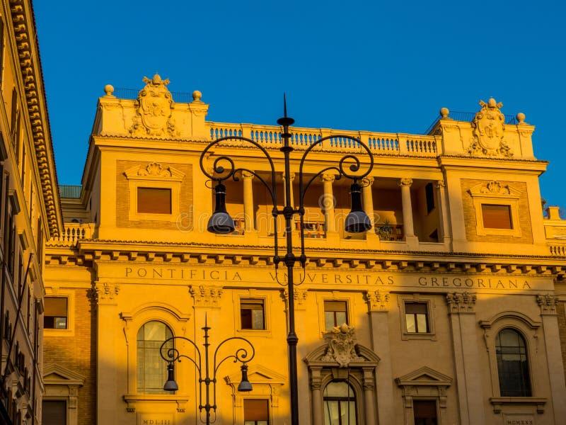 Universidade gregoriana pontifical, Roma fotos de stock royalty free