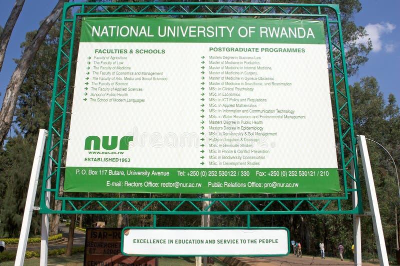 Universidade nacional de Rwanda (NUR) fotografia de stock