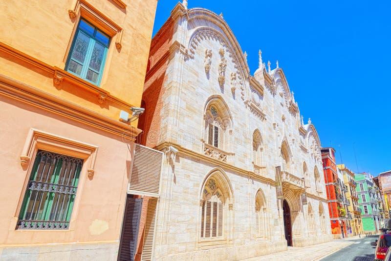 Università cattolica di Valencia San Vicente Martir a Valencia fotografie stock