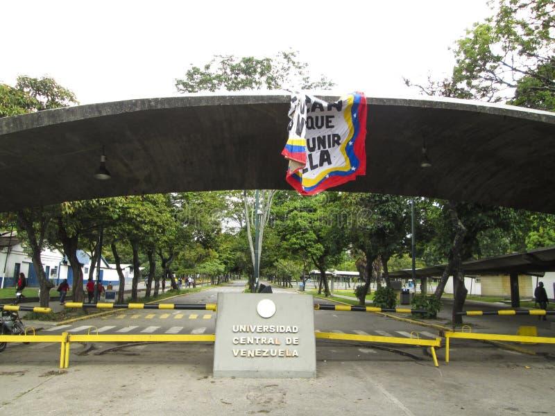 UNIVERSITÀ CENTRALE DI VENEZUELA UCV CARACAS VENEZUELA piacevole fotografia stock