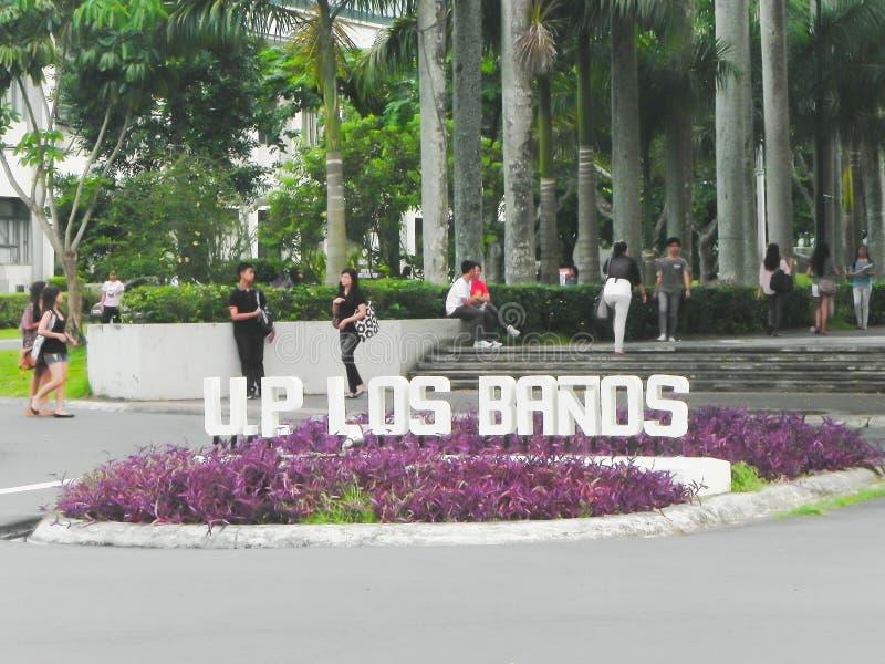 Università delle Filippine, Los Baños, Laguna immagini stock