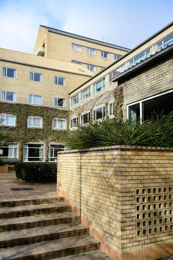 Università di Aarhus - punto di riferimento giallo di architettura del mattone (2) fotografie stock