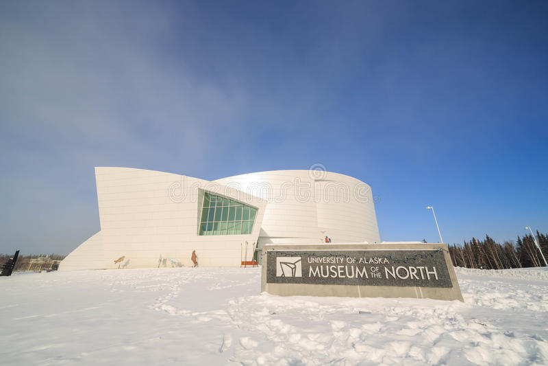 Università di Alaska, museo del Nord fotografie stock libere da diritti