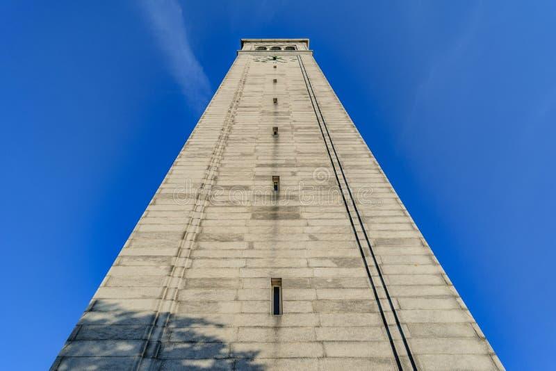 Università di California Berkeley Sather Tower fotografie stock libere da diritti