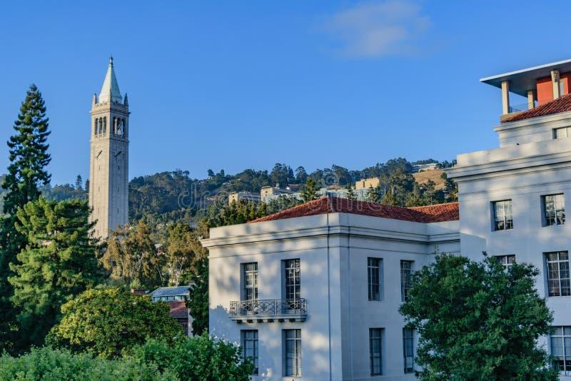 Università di California Berkeley Sather Tower fotografia stock