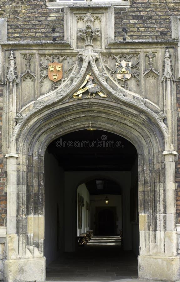 Università di Cambridge, istituto universitario del Jesus, entrata t immagine stock