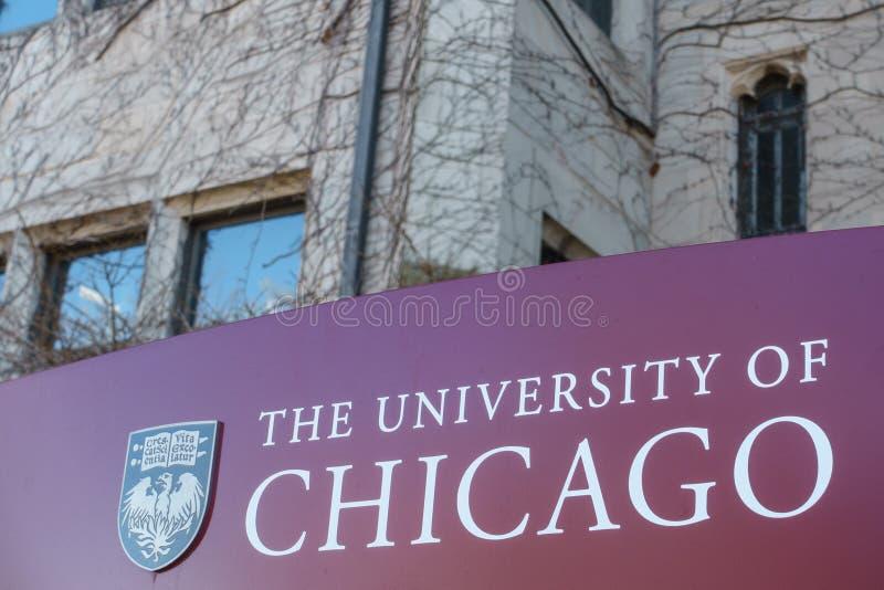 Università di Chicago fotografia stock