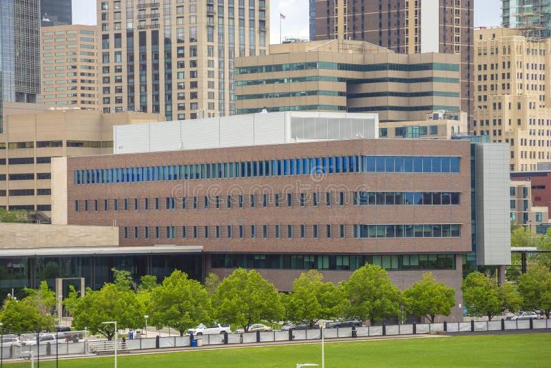 Università di colorado Denver a Denver del centro, Colorado, durante il giorno immagine stock libera da diritti