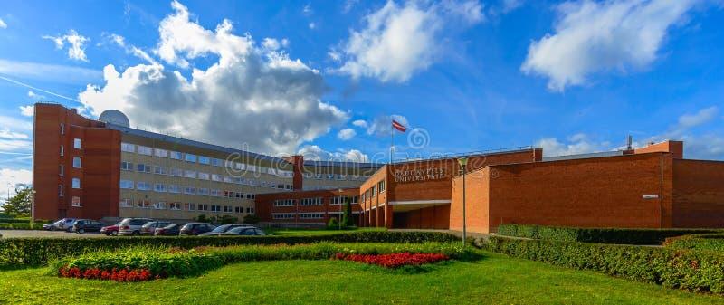 Università di Daugavpils di Lettonia fotografia stock