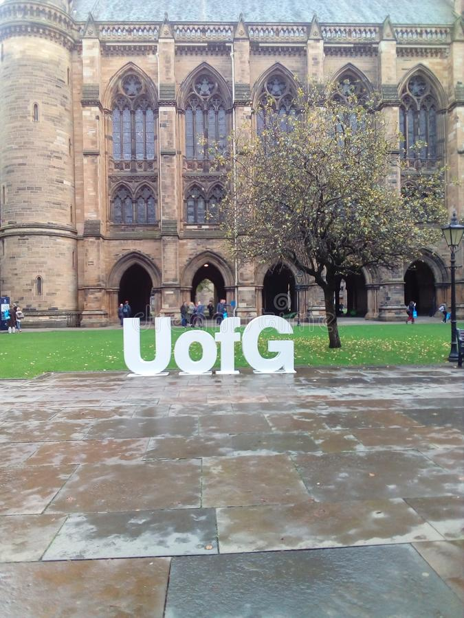 Università di Glasgow immagini stock libere da diritti