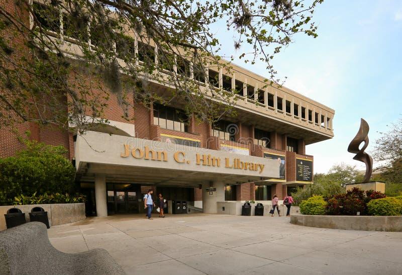 Università di John C di Florida centrale Biblioteca di Hitt fotografie stock